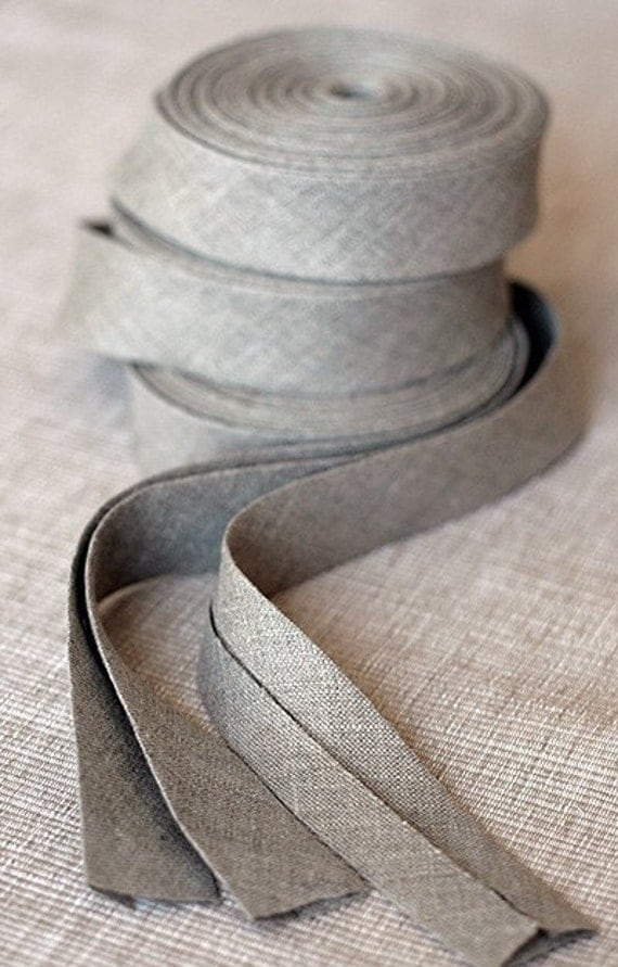 Linen bias tape - 4 meters - natural -- LAST piece