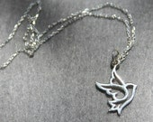 Dove Necklace in Silver