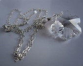 Let it Snow Necklace...Swarovski Crystal Snowlake necklace by JerseyGirlDesign