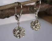Disco Earrings with Swarovski Crystals on Sterling Silver by JerseyGirlDesign
