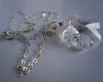 Let it Snow Necklace...Swarovski Crystal Snowlake necklace by JerseyGirlDesign