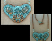 Alien Abduction - Artisan Handmade Bead Embroidered Necklace