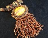Sneaky Snake - Artisan Handmade Beaded Necklace