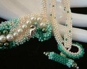 Mermaid Bubbles - Artisan Handmade Beaded Necklace