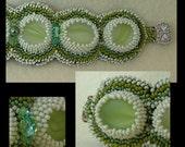 Foamy Seas - Artisan Handmade Bead Embroidered Bracelet