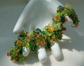 Garden Path - Artisan Handmade Bead Woven Bracelet