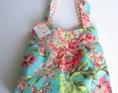 Pleated Diaper Tote - Savannah - Clutterbags Large Tote Bag - Bliss Bouquet.