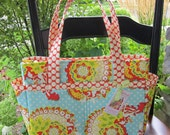 Diaper Bag - Purse - Tote - Clutterbags Hadley Baby Bag - With Stroller Straps - 14 Pockets Total - Pop Garden.