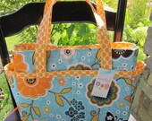 Hadley Diaper Bag Tote - Everyday Tote Bag - Clutterbags - With Stroller Straps - 14 Pockets Total - Riley Blake.