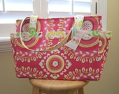 Diaper Bag Tote - 14 Pockets - Clutterbags Hadley Baby Bag - Stroller Straps Included - Kumari Garden.