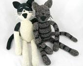 pet portrait, custom crocheted cat, custom stuffed animal, personalized pet gift