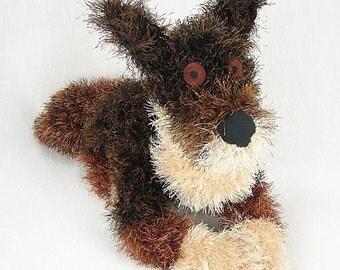 pet portrait, custom crocheted dog, personalized pet gift