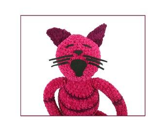 plush portrait of penny -crocheted cat -digital print