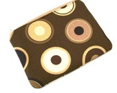 Chocolate Circles and DOTS -  Zippered Pouch  Cosmetic bag
