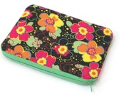 Funky Floral Zippered Pouch