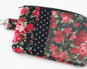Pretty as a Rose  Zippered Pouch iPod or Gadget Case