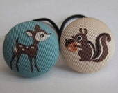 Friends in the Forest - Adorable and Fun Ponytail Holders