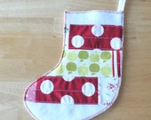 SALE Patchwork Stocking in Christmas Cheer no.1