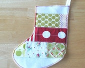 SALE Patchwork Stocking in Christmas Cheer no.2