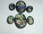 2 Sets Floral Polyclay Cabachon sets reserved for Nancy Dale