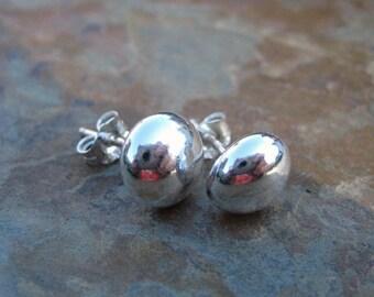 Silver Ball Post Stud Earrings X Large 999 Fine Silver