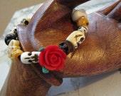 Skull Rosary Bracelet