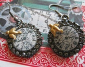 Steampunk Clock Face Earrings