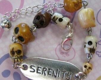 Skull ID Bracelet, Serenity