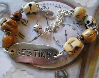 Steampunk Skull ID Bracelet, Destiny