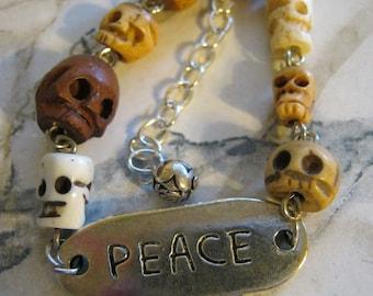 Peace Skull ID Bracelet