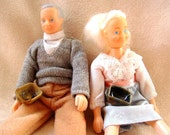 Two Loaf Pan Miniatures, Grandma and Grandpa Doll, Mature Adult Humor, Loafing, Terrible Puns,  Ready to Ship