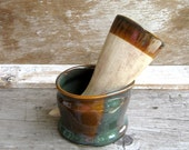 Drinking Horn Set in Woodland Green