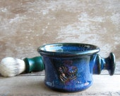 Apothecary Style Shaving Mug In Bright Blue Discounted Second