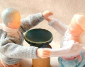 Green Cake Stand Miniature, Mature Adult Humor, Pattycake, Toys, Old People Having Sex, Puns and Innuendo, Ready to Ship