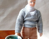 Dish on the Side Miniature, Grandma and Grandpa Doll, Exciting Side Dish, Food Lust, Adult Mature Humor, Infidelity, Ready to Ship