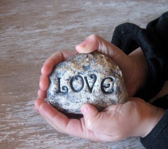 Garden Decoration Handmade Stoneware Love