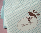 THREE Sets of 8 Thank You Vintage Bird notes RESERVED for ERIN