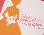 Set of Please Be My Bridesmaid Cards reserved for Julie