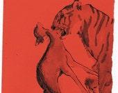 Tiger Original Ink Drawing
