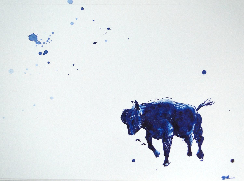 Rodeo Bull Drawings 2011 series - rodeo animals Bull