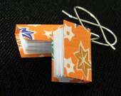Falling Leaves, Orange Mini Book Earrings