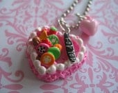 Pink Heart  Cake Necklace SALE