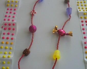 Holiday Gumdrop Necklace SALE