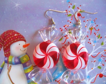 Peppermint Twist Earrings SALE