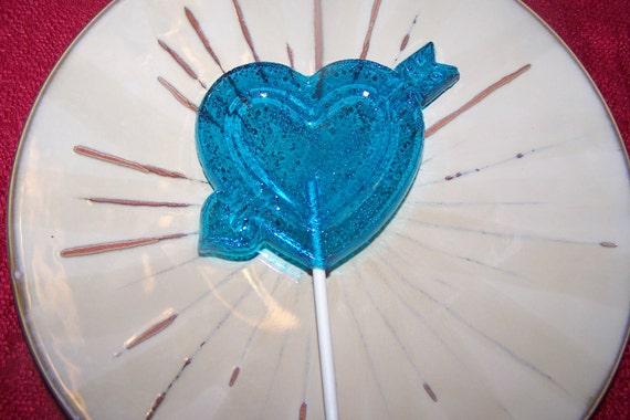 6 BIG Love Valentine's Heart Arrow Candy Lollipop Sucker Favor