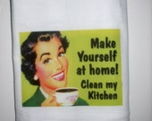 CLEAN MY KITCHEN BOUTIQUE DISH TOWEL- RETRO VINTAGE STYLE