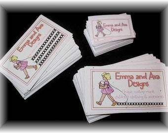 Boutique Business Set - 100 Digital or Satin Printed Clothing Labels, 100  Hang Tags - Business Cards - Full Color