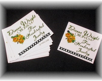 50 Custom Printed Small Hang Tags - 1.75 x 2 inch - Professionally offset printed - Super Thick 15pt Cardstock