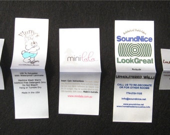 1200 Custom Screenprinted Satin Clothing Labels - Sewing Tags - Up to 4 Colors