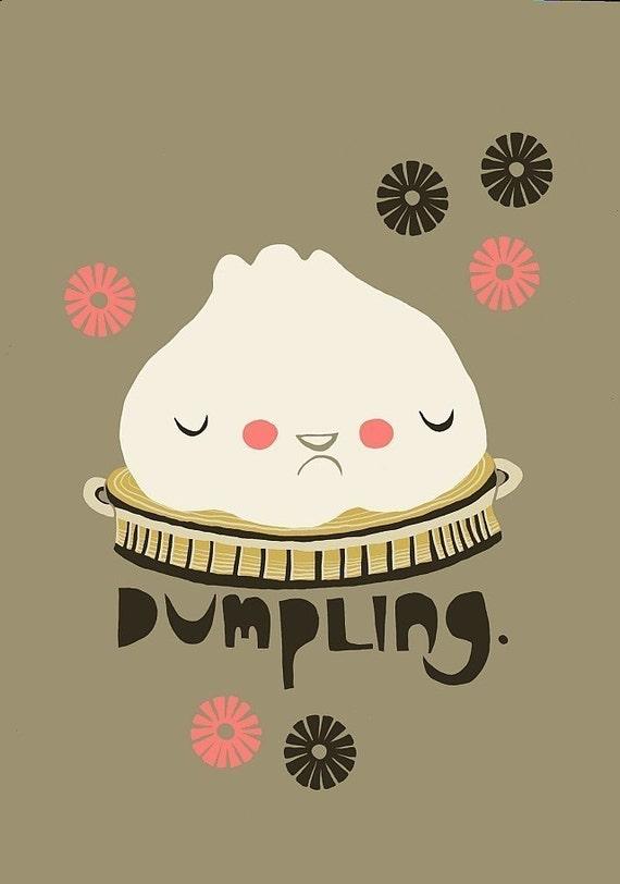 5x7 Print  - Dumpling